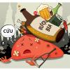 tác hại của bia rượu với dạ dày