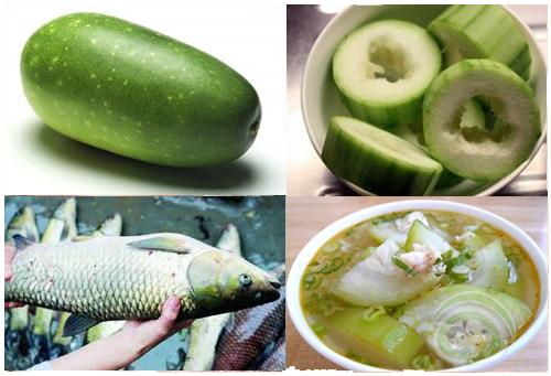 bí đao nấu cá